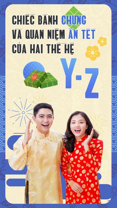 Chiec banh chung va quan niem an Tet cua 2 the he Y - Z hinh anh 1