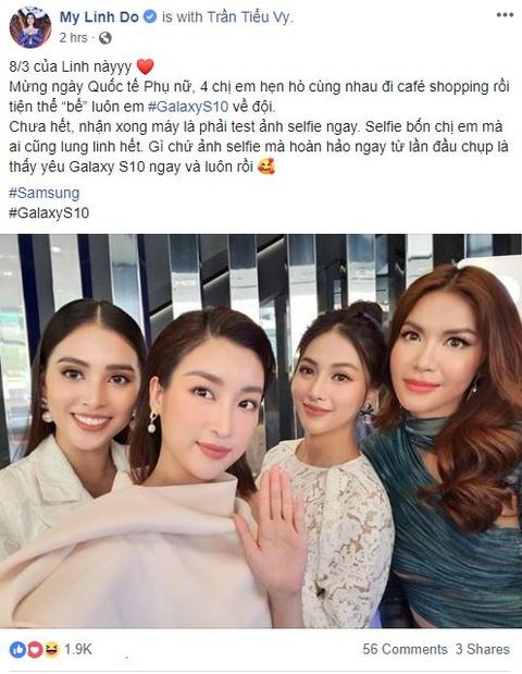 My Linh, Tieu Vy bat ngo di mua Galaxy S10 trong ngay mo ban tai VN hinh anh 11