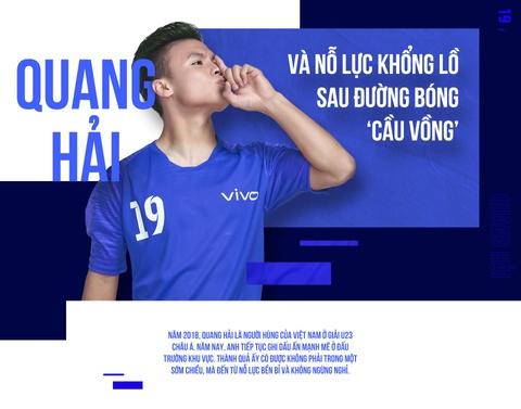 Quang Hai va no luc khong lo sau duong bong 'cau vong' hinh anh 2
