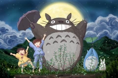 Totoro duoc mo cong vien rieng hinh anh