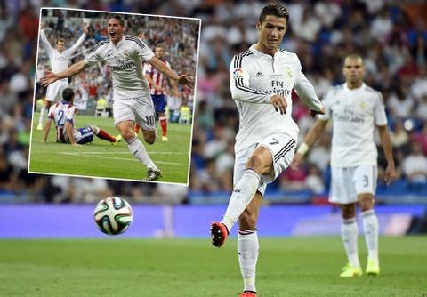 Ronaldo mo nhat, James Rodriguez dong the thanh cong hinh anh