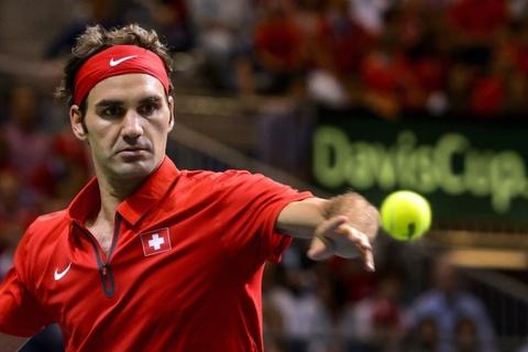 Ban ket Davis Cup 2014: Federer 3-0 Fognini hinh anh