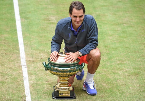 Federer lap ky luc 8 chuc vo dich Gerry Weber Open hinh anh