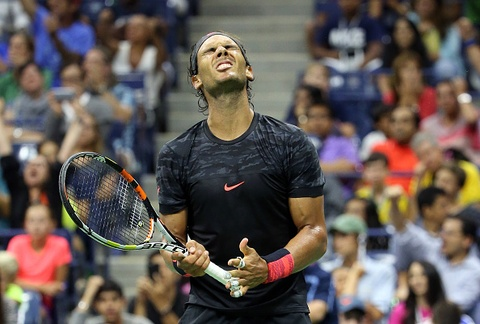Vong 3 US Open 2015: Nadal 2-3 Fognini hinh anh