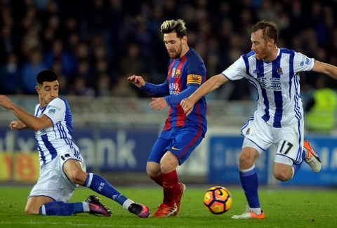 Messi ghi ban, Barca van tut lai o cuoc dua voi Real hinh anh 7