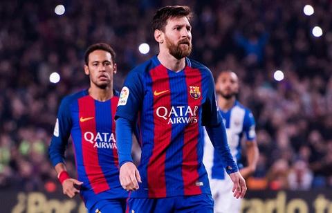 Messi lap cu dup giup Barca bam duoi Real hinh anh