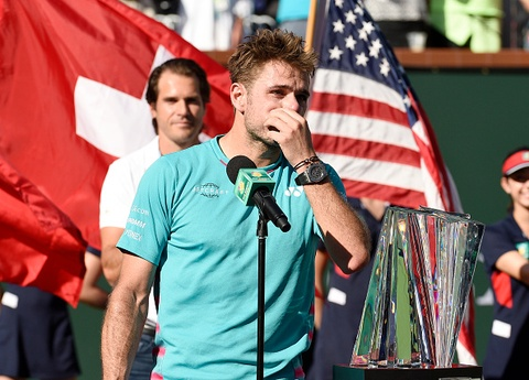 Wawrinka goi Federer la 'do khon' o le trao giai Indian Wells hinh anh