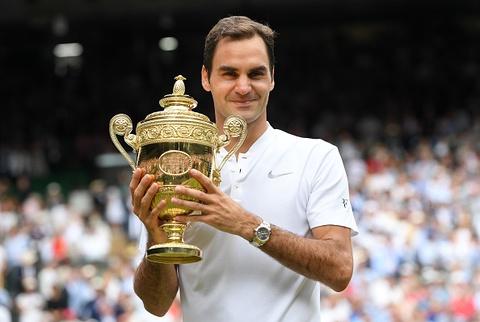 Federer vo dich Wimbledon, gianh danh hieu Grand Slam thu 19 hinh anh