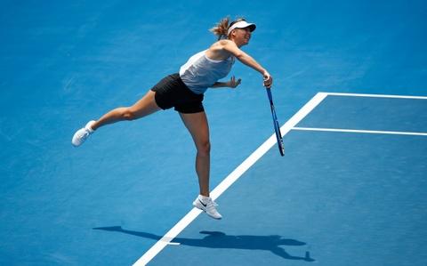 Sharapova hang say tap luyen cho tai xuat Australian Open hinh anh 2