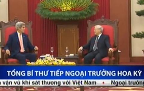 Tong bi thu Nguyen Phu Trong tiep Ngoai truong Hoa Ky hinh anh