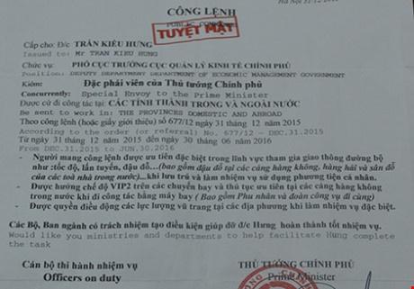 Gia dac phai vien cua nguyen Thu tuong hu doa CSGT hinh anh