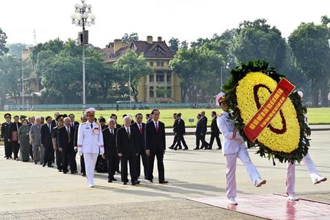 Lanh dao Dang, Nha nuoc vieng Chu tich Ho Chi Minh hinh anh