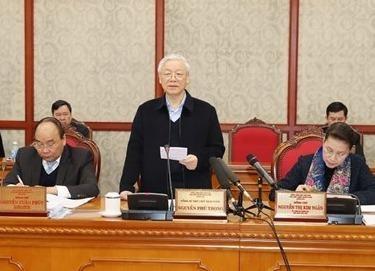 Bo Chinh tri lam viec voi Ban Thuong vu Thanh uy Da Nang hinh anh