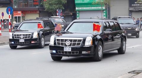 The Beast dua Tong thong Trump ra san bay ve nuoc hinh anh 1