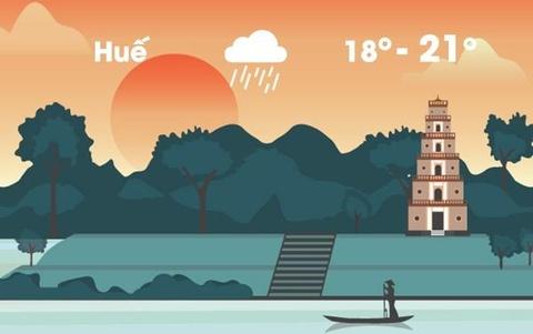 Thời tiết ngày 18/1: Trung Trung Bộ tiếp tục mưa lớn vì không khí lạnh