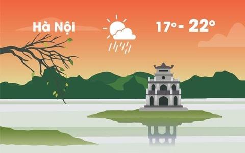 Thời tiết ngày 20/1: Hà Nội mưa nhỏ và rét vì không khí lạnh