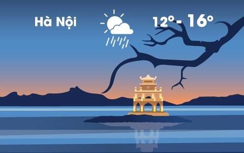 Thời tiết ngày 21/1: Hà Nội rét đậm, thấp nhất 12 độ C