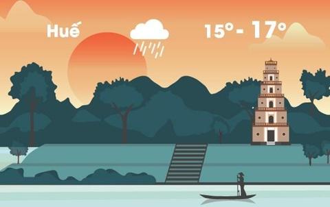 Thời tiết ngày 22/1: Trung Bộ có mưa lớn do không khí lạnh