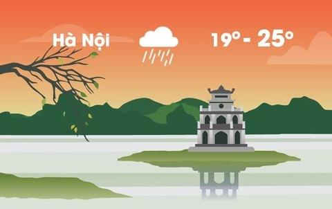 Thời tiết ngày 22/2: Hà Nội mưa rào, Sài Gòn nắng 34 độ C