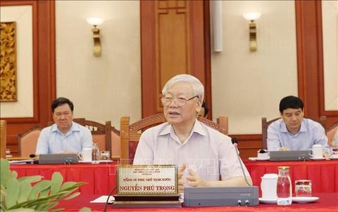 Bo Chinh tri hoan thanh chuong trinh lam viec voi 67 dang bo TW hinh anh