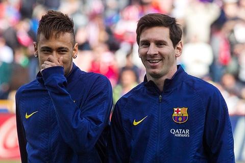 Man tang bong ngau hung cua bo doi Neymar va Messi hinh anh