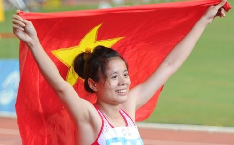 Nguyen Thi Huyen pha ky luc SEA Games 400 m vuot rao hinh anh