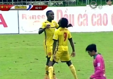 Tong hop ban thang: Dong Thap 1-2 Hai Phong hinh anh