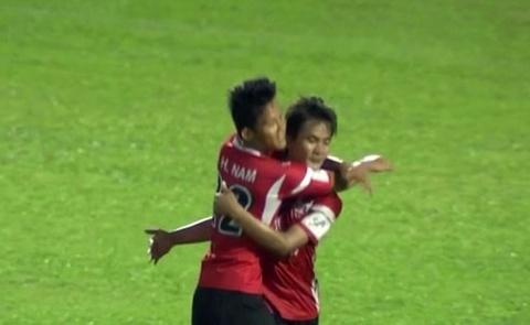 Tong hop ban thang: Dong Tam Long An 2-0 Khanh Hoa hinh anh