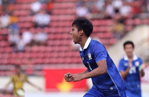 Tong hop tran dau: U19 Thai Lan 5-0 U19 Malaysia hinh anh