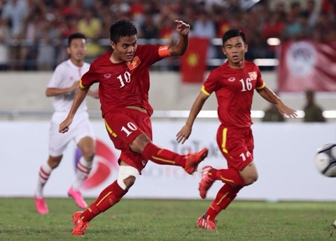 Tong hop tran dau: U19 Viet Nam 4-0 U19 Lao hinh anh