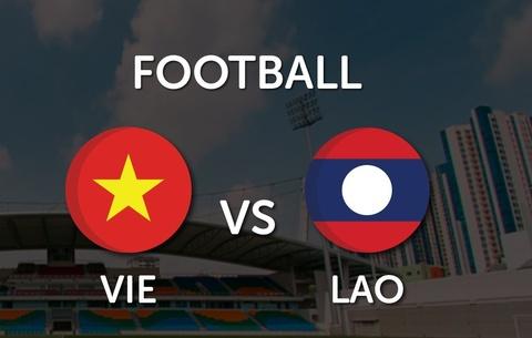 Video truc tiep bong da: U19 Viet Nam - U19 Lao hinh anh