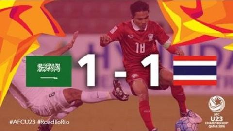 Tong hop tran dau: U23 A-rap Xe-ut 1-1 U23 Thai Lan hinh anh