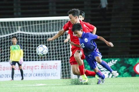 Video bong da ban ket U16 Campuchia vs U16 Viet Nam hinh anh