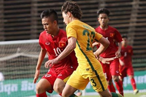 Video truc tiep bong da: U16 Viet Nam vs U16 Australia hinh anh