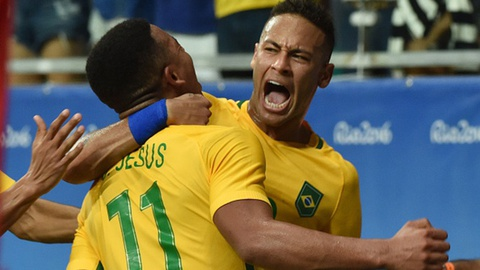Highlights U23 Brazil 4-0 U23 Dan Mach hinh anh