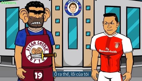 Man hoi dap vui nhon giua Costa va Sanchez hinh anh
