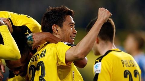Shinji Kagawa ghi ban giup Dortmund de bep Hamburger SV hinh anh