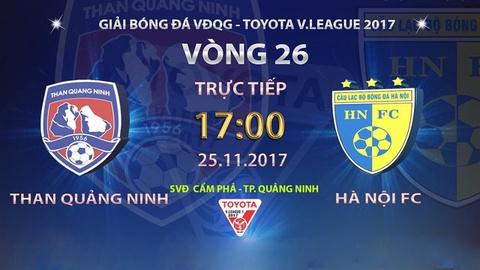 Truc tiep vong 26 V.League: CLB Quang Ninh vs CLB Ha Noi hinh anh