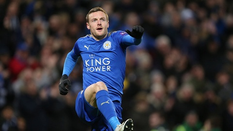 Jamie Vardy ghi ban giup Leicester City vao tu ket FA Cup hinh anh