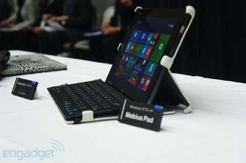 Can canh tablet Windows 8 chong nuoc dau tien cua Sharp hinh anh