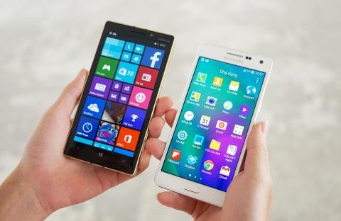 Galaxy A5 va Lumia 930 Gold do thiet ke hinh anh