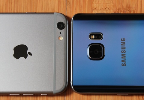 note 5 vs iphone 6 plus hinh anh
