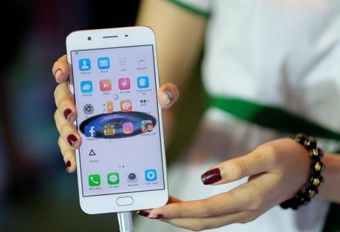 Mo hop Oppo F1s: Smartphone chuyen selfie, dang ua nhin hinh anh