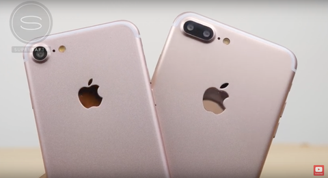 Video ro net so sanh ban mau iPhone 7 va iPhone 7 Plus hinh anh