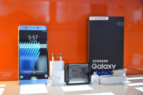 Mo hop Galaxy Note 7 mau xanh gia 21,9 trieu tai VN hinh anh 3