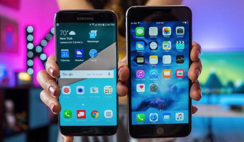 Galaxy S7 edge va iPhone 7 chuan bi dai chien o VN hinh anh