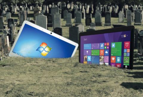 Microsoft bat dau khai tu Windows 7 va Windows 8 hinh anh