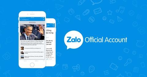 Nhung tuong tac noi bat cua Zalo Official Account nam 2016 hinh anh