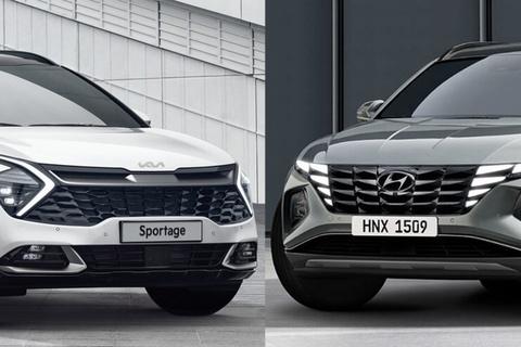 Hyundai Tucson 2021 va Kia Sportage 2022 - dot pha phan khuc SUV C hinh anh