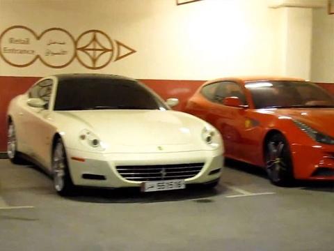 Garage ngap sieu xe Y tai Qatar hinh anh
